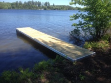 4 foot x 24 foot Aluminum floating dock with wheel kit