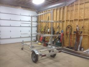 6 place aluminum kayak trailer